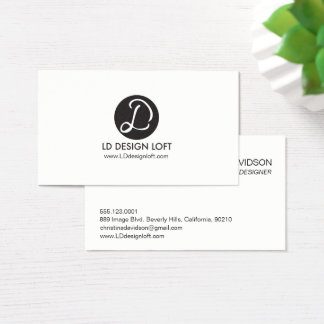 Your Logo Here, simple, Customizable business card