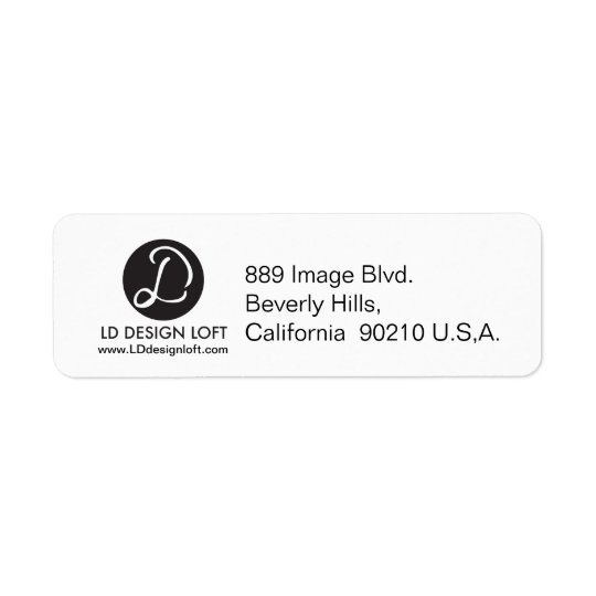 Your Logo Here, simple, Customizable Return Address Label