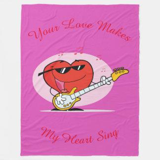 Your Love Makes My Heart Sing Fleece Blanket