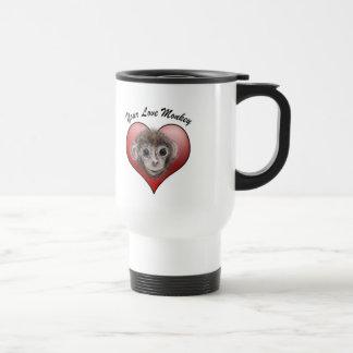 Your Love Monkey 15 Oz Stainless Steel Travel Mug