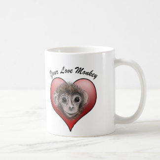 Your Love Monkey Classic White Coffee Mug