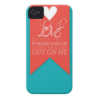 Your Love Never Fails iPhone 4 Case-Mate Cases