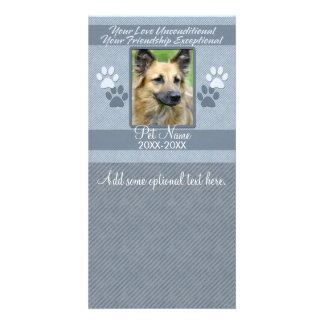 Your Love Unconditional Pet Sympathy Custom Customized Photo Card