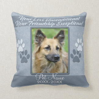 Your Love Unconditional Pet Sympathy Custom Throw Pillow