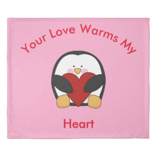 Your Love Warms My Heart Duvet Cover