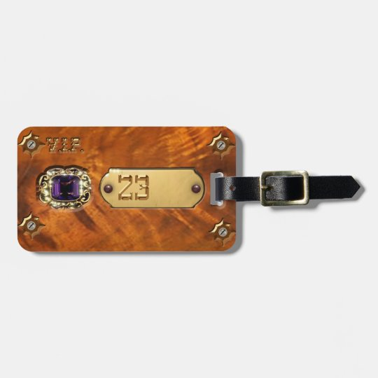 Your Luggage Tag Steampunk & Your Number 23 Victor