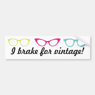 Your Message Custom Glasses Frames Bumper Sticker