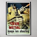 Your Metal Keep 'Em Shooting Poster