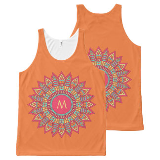 Your Monogram in a Boho Frame custom tank top