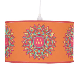 Your Monogram in a Boho Frame lamps & shades