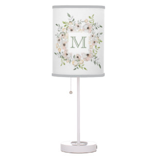 Your Monogram in a Flower Frame lamps & shades
