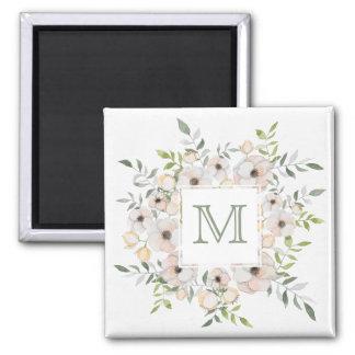 Your Monogram in a Flower Frame magnet