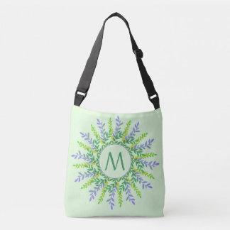 Your Monogram in a Leaf Frame custom bags
