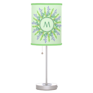 Your Monogram in a Leaf Frame lamps & shades