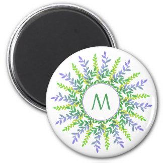 Your Monogram in a Leaf Frame magnet