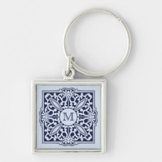 YOUR MONOGRAM in decorative frame key chain