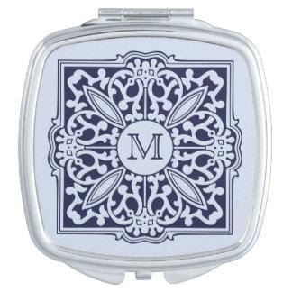 YOUR MONOGRAM in decorative frame pocket mirror Vanity Mirrors