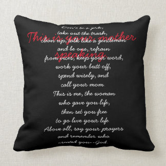 'Your Mother' Throw Pillows