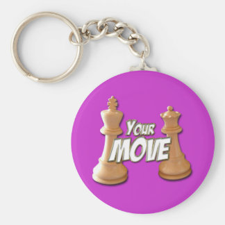Your Move Basic Round Button Keychain