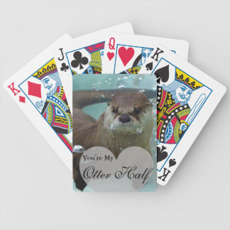 Your my Otter Half Brown River Otter Swimming Bicycle Playing Cards