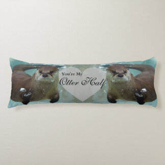 Your my Otter Half Brown River Otter Swimming Body Pillow