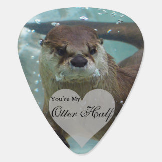 Your my Otter Half Brown River Otter Swimming Guitar Pick