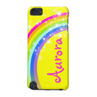 """""""Your name"""" (6 letter) rainbow yellow ipod case"""