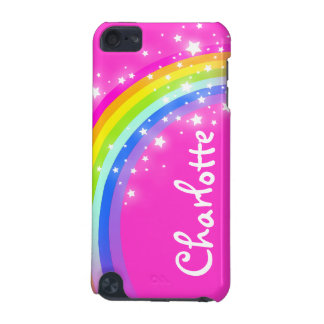 """Your name"" (9 letter) rainbow pink girl ipod case iPod Touch (5th Generation) Case"
