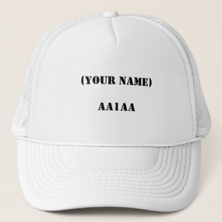 (YOUR NAME)AA1AA TRUCKER HAT