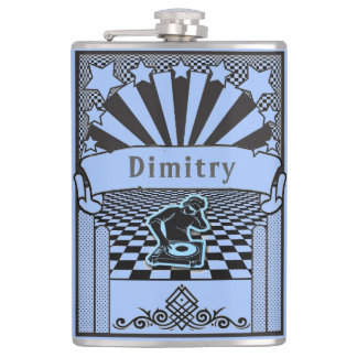 Your Name and background color on this DJ Flask