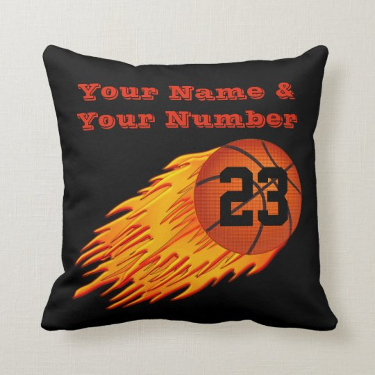 Your NAME and Jersey NUMBER on Basketball Pillows