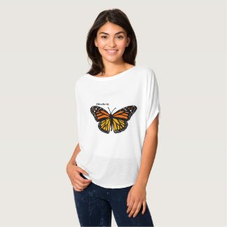 Your Name and Monarch Butterfly Tshirt