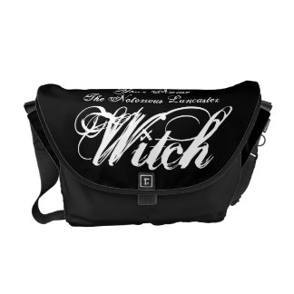 Your Name as a Notorious Witch Gothic Black Messenger Bag