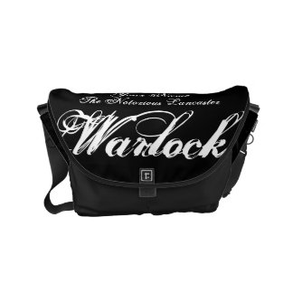 Your Name as a Notorious Witch Gothic Warlock Messenger Bag