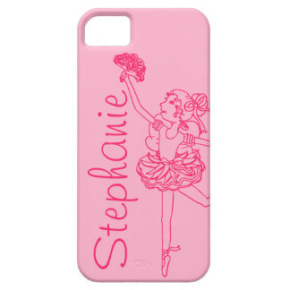 """""""Your name"""" ballerina pink iphone 5 case"""
