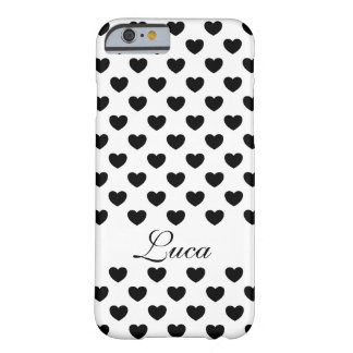 Your name, beautiful black and white sample with barely there iPhone 6 case