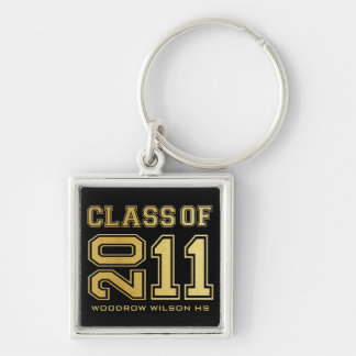 """your name"" Class of 2011 Key-Chain (gold) Keychain"