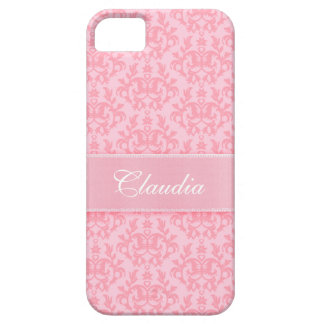 """Your name"" damask light pink iphone5 case"