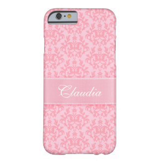 """Your name"" damask light pink iPhone 6 case"