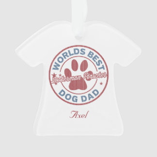 Your Name Dog Dad Doberman Pinscher Ugly Sweater