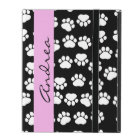Your Name - Dog Paws, Traces, Paw-prints - Black iPad Case
