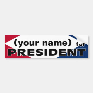 Your Name for President Sticker