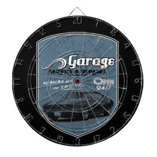 Your Name Garage Dartboard