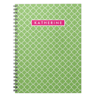 Your Name | Green Trefoil Spiral Notebook