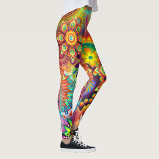 Your Name Happy Bold Floral Leggings S to XL Pants