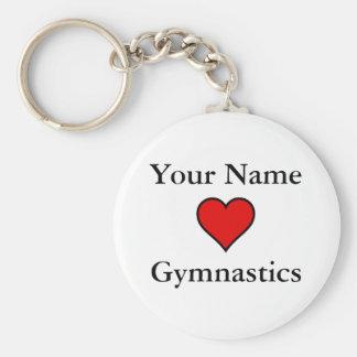 (Your Name) Hearts Gymnastics Keychain