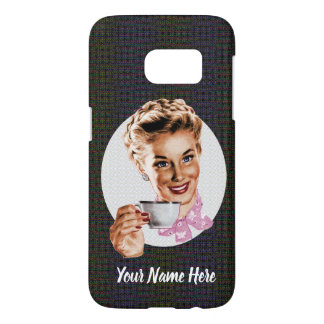 Your Name Here (Black) Samsung Galaxy S7 Case