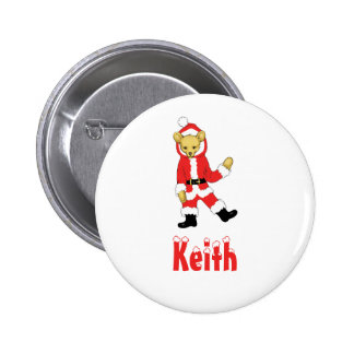 Your Name Here! Custom Letter K Teddy Bear Santas 2 Inch Round Button