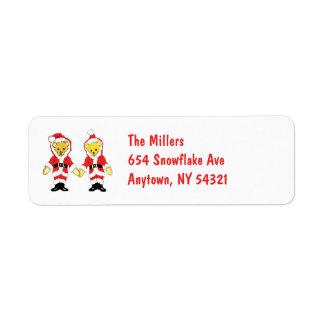 Your Name Here! Custom Letter M Teddy Bear Santas