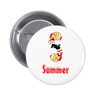 Your Name Here! Custom Letter S Teddy Bear Santas 2 Inch Round Button